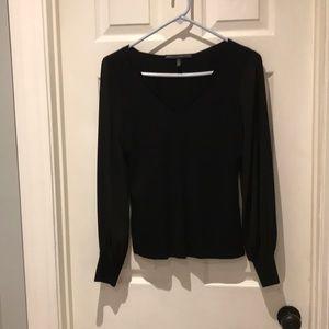 White House Black Market sheer sleeve sweater